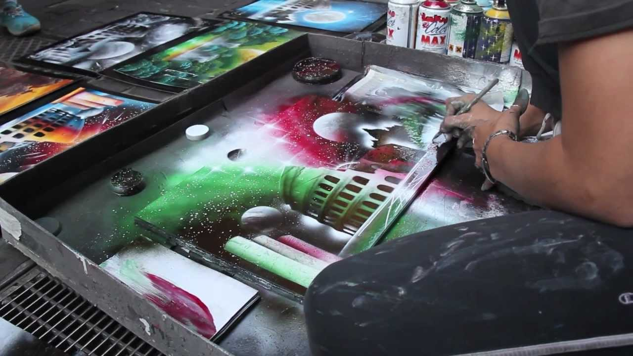 beautiful spray paint artist in rome short promo video. Black Bedroom Furniture Sets. Home Design Ideas