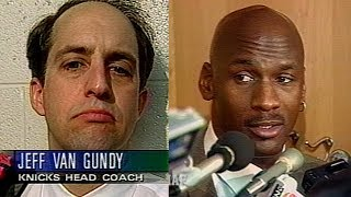 Jeff Van Gundy & Michael Jordan Locker Room Interview THE CON GAME (1997.01.21)