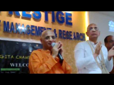 bhakti charu swami Kirtan at Prestige Institute of Management...