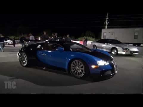 Bugatti Veyron **RARE** 1/4 Mile drag race vs Nissan R35 GTR