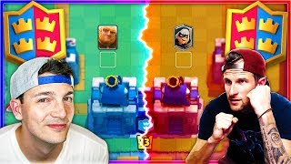 ONLY ONE LANE EACH!? Nick & Molt Clash Royale Challenge!