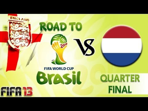 [TTB] FIFA 13 - Road to the World Cup 2014 - England Vs Netherlands - Quarter Final! Sturridge Away!