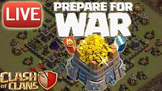 LIVE CLAN WAR ACTION! || CLASH OF CLANS || Let