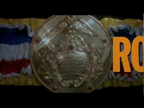 """Scena iniziale del film """"Rocky III"""", drammatico del 1982, con Sylvester Stallone (Rocky Balboa), Talia Shire, Burt Young, Carl Weathers, Burgess Meredith, To..."""