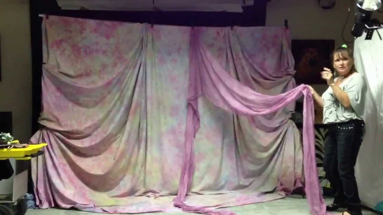 Backdrop Draping Lesson Part 1 Youtube