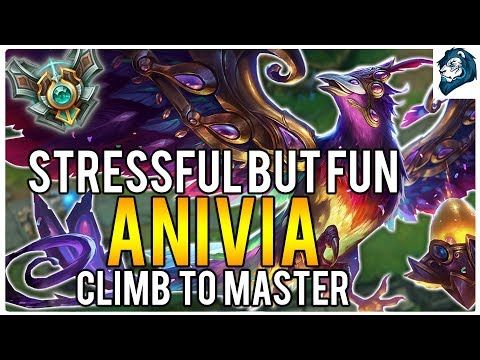 STRESSFUL BUT FUN ANIVIA MID - Climb to Master   League of Legends