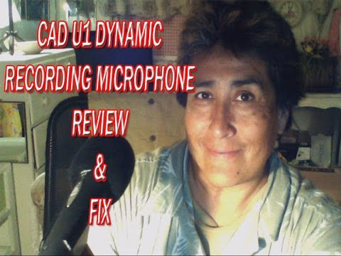 CAD U1 USB Dynamic Recording Microphone - Review & Fix