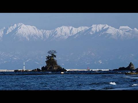 富山湾と立山連峰 North Japan Alps view over Toyama Bay(Shot on RED ONE)