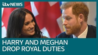 Harry and Meghan to drop royal duties and HRH titles as talks about their future end | ITV News