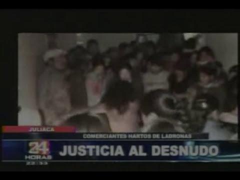 queman delincuentes en Puno