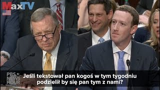 Zuckerberg Testimony on Facebook - Max Kolonko MaxTVGO.com