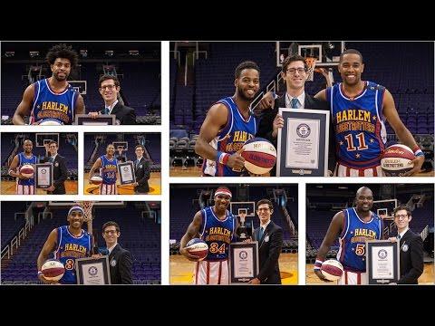 Harlem Globetrotters set seven Guinness World Records® records