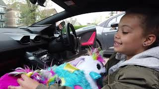 Spoilt kid takes Rainbowcorns & Boobocorns for a drive in a Lamborghini | PART 1