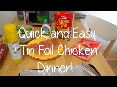 Quick and Easy Tin Foil Chicken Dinner! - maymommy2011