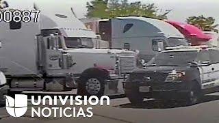Publican el video de la patrulla policial que asistió a 16 indocumentados hallados en un camión