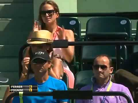 David Ferrer vs Fabio Fognini 3rd Round ATP Sony Open Tennis Miami 2013 - Short Highlights