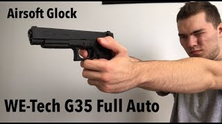 WE-Tech G35 Shooting Demo Epic Full Auto! (Lots of Gas)