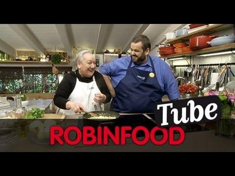 ROBINFOOD / Tortilla de bacalao + Rape al horno con refrito de pimiento verde