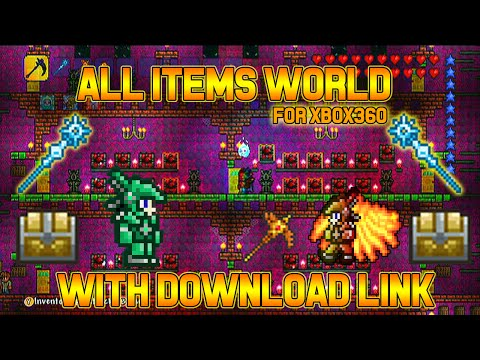 Terraria Xbox360 All Items Map With Download LInk!