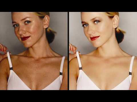 Celebrities Before And After Photoshop Music Videos