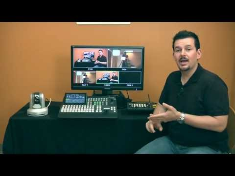This is a product demo for the Panasonic AW-HE60 PTZ camera with the ...