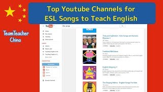ESL Songs to Teach English - Top Youtube Channels