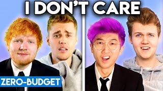 JUSTIN BIEBER & ED SHEERAN WITH ZERO BUDGET! (I Don't Care PARODY)