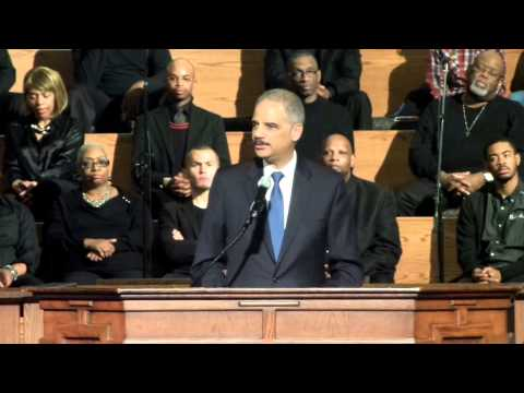 Eric Holder Speaks in Atlanta, Interrupted by Nonviolent Demonstrators (#ShutItDownATL)