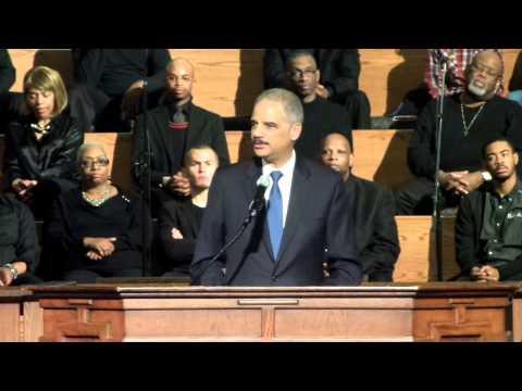 Eric Holder Speaks in Atlanta, Interrupted by Nonviolent Demonstrators (#ShutItDownATL)