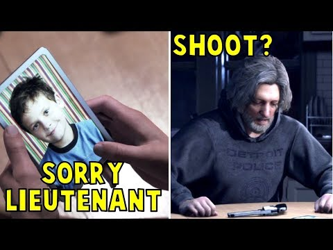 Connor Reacting to the Death of Hank's Son: Deviant vs Machine -All 4 Outcomes- Detroit Become Human