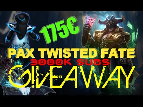 PAX Twisted Fate GIVEAWAY !!! - League of Legends FREE Skin [HD]