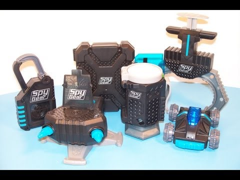 2013 McDONALD'S SPY GEAR SET OF 6 HAPPY MEAL TOY'S VIDEO REVIEW
