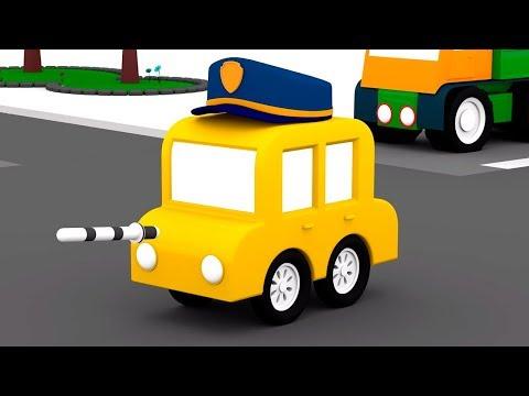 Мультики для детей: 4 машинки работают в полиции