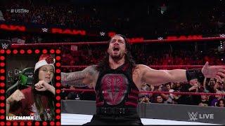 WWE Raw 12/26/16 Roman Reigns vs Kevin Owens