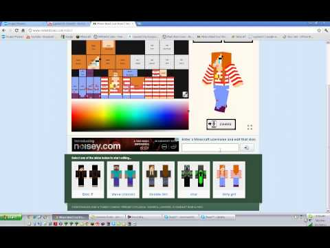 how to make download and change a skin in minecraft CPU