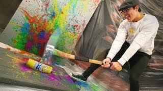 Painting With Spray Can Explosions!