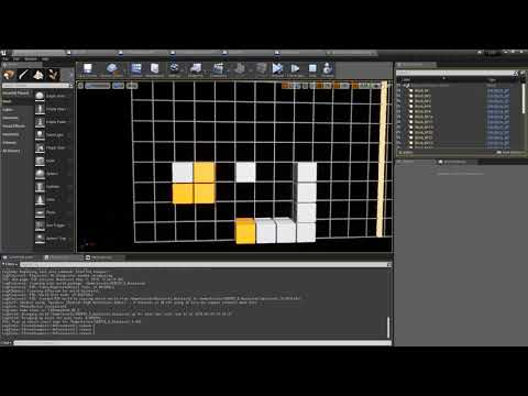 Destroying Blocks, Planning Drops Making a LuminesStyle Puzzle Game in UE4 Blueprint (Part 12)
