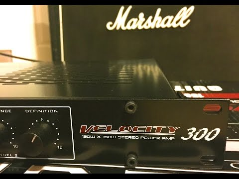 rocktron velocity review 300 watt electric guitar stereo power amp rack mounted