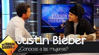 """Pablo Motos pregunta a Justin Bieber: """"¿Conoces a las mujeres?"""" - El Hormiguero 3.0"""