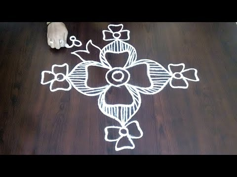 Easy Freehand Muggulu ||  Rangoli Without DOTS || Designer Kolam || Fashion World