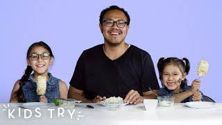 Kids Try Their Dad's Favorite Snacks from Childhood | Kids Try | HiHo Kids