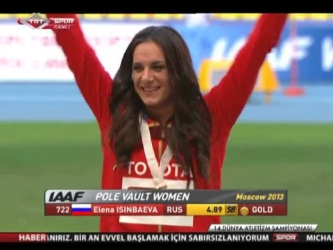 Yelena Isinbayeva The Pole Vault Ceremony world athletics championships 2013 in Moscow