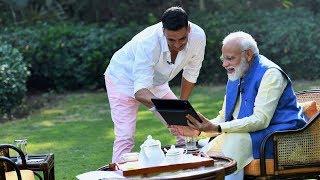 PM Modi in conversation with Akshay Kumar
