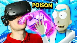 Rick Forces Me To DRINK HIS SECRET POISON (Rick and Morty: Virtual Rick-ality Gameplay)