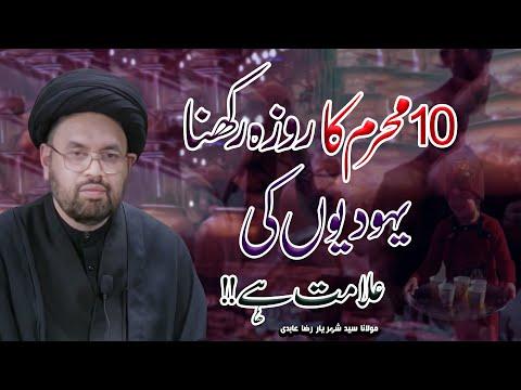 Kaya Ashura Ka Roza Rakhna Jaiz Hy !! | Maulana Syed Shahryar Raza Abidi | 4K
