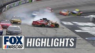 Kyle Larson spins, loses lead after hitting Ryan Newman | 2018 BRISTOL | FOX NASCAR