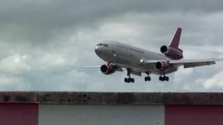 Omni Air International DC10 landing @Shannon Airport (HD)