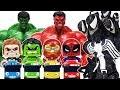 Villains in Tayo Town, Go Avengers~! Hulk, Spider Man, Iron Man, Captain America Toys Play