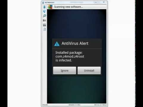 AVG Mobile Antivirus - Android Malware,Trojan,Virus Detection Test , Video