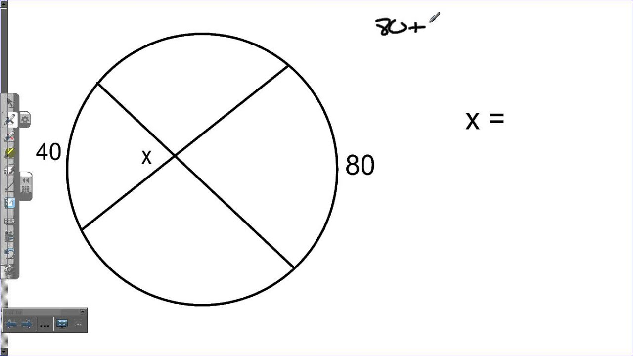 Interior And Exterior Angles In Circles Youtube